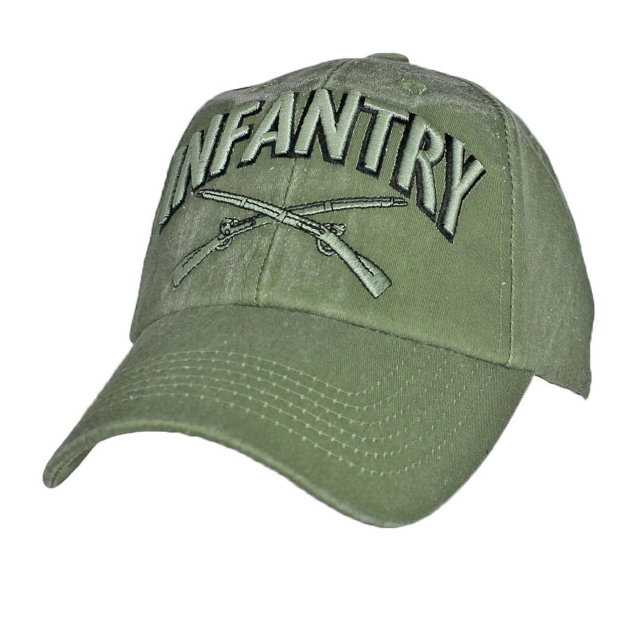 Army Military Black Baseball Cap Hat US ARMY 4th INFANTRY U.S