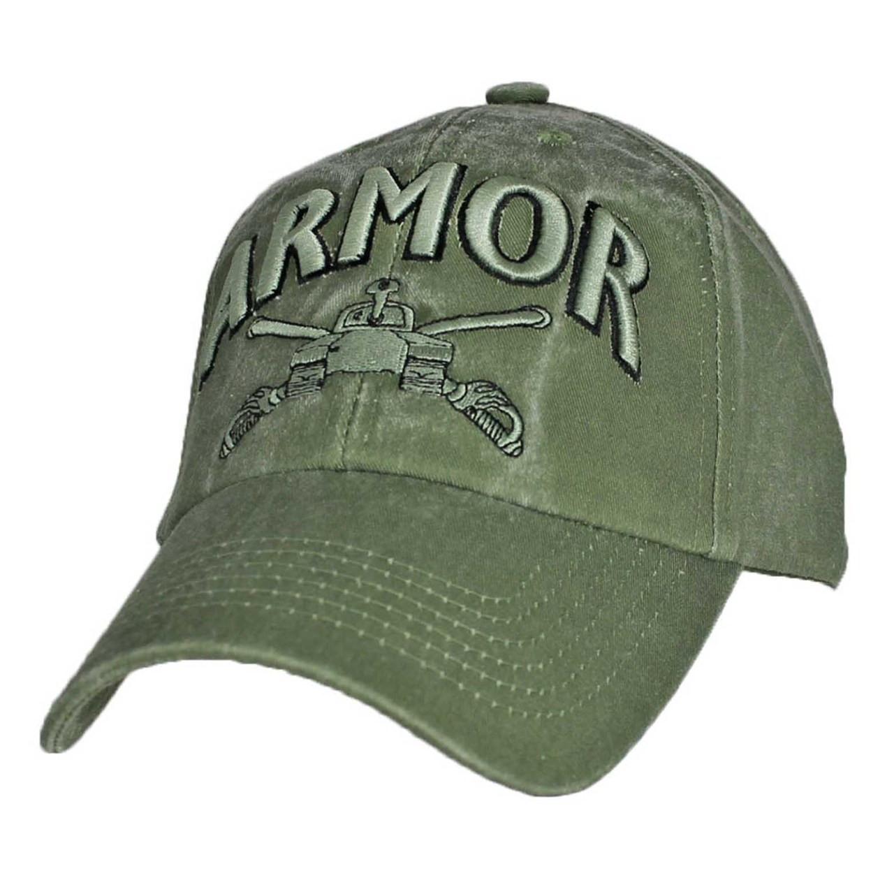 US ARMY ARMOR - U.S. Army Tank OD Green Military Baseball Cap Hat 29f03855cbd