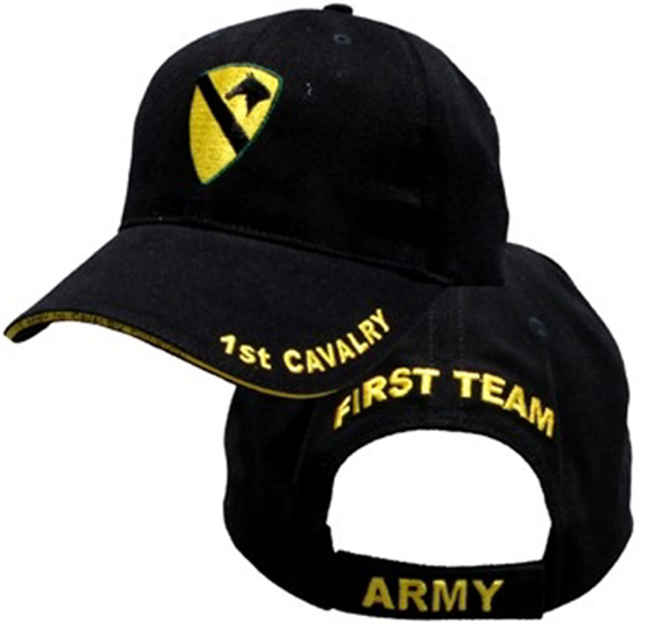 US ARMY 1ST CAVALRY - U.S. Army with 1st Cavalry Logo Baseball Cap Hat 0e29c2cfda5