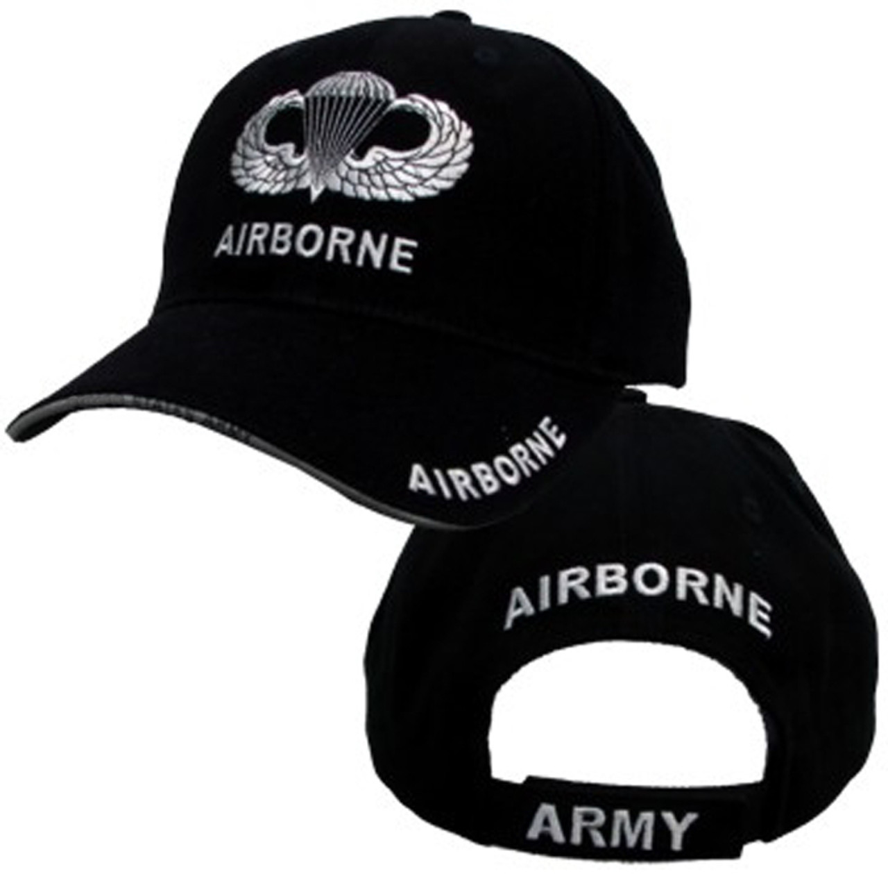 82nd Airborne Hat With Wings - U.S. Army Black With Jump Wings Baseball Cap  Hat a9d710dd6ef