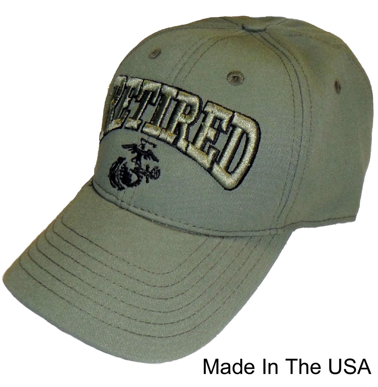 ff88c93468 US MARINE RETIRED - U.S.M.C. USA MADE Officially Licensed Baseball Cap Hat
