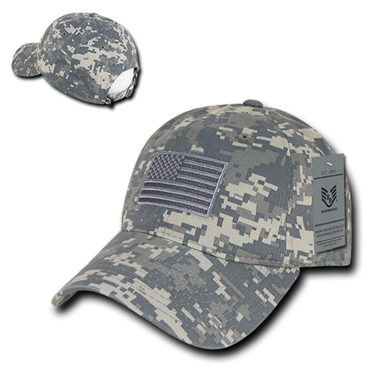 6ac3887ba82ec ACU US American Flag United States America Polo Tonal Baseball Hat Cap