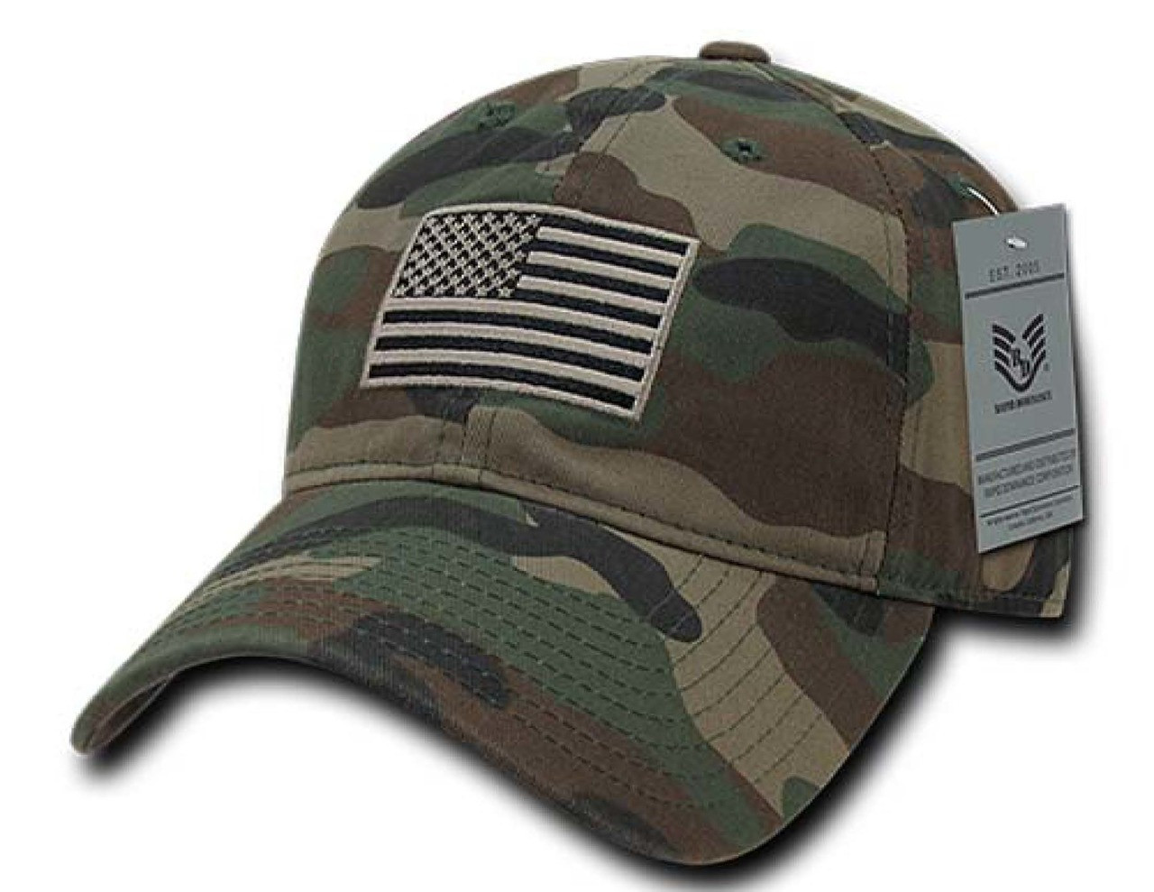 Woodland USA US American Flag Patch United States America Polo Baseball Hat  Cap 34c1309c4d6