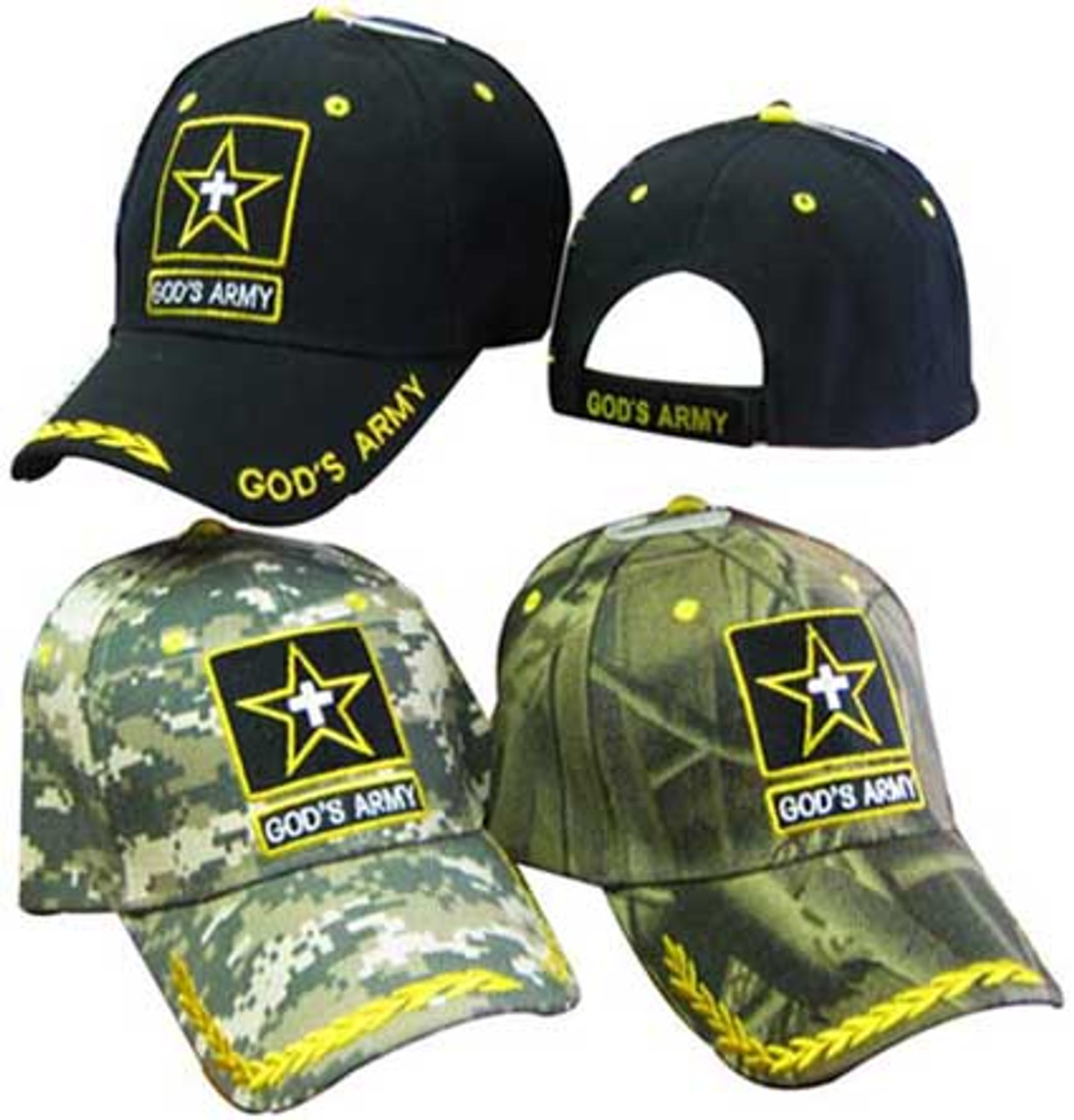 7b05d8113fd GODS ARMY CHRISTIAN HAT BASEBALL CAP Great way to share your faith