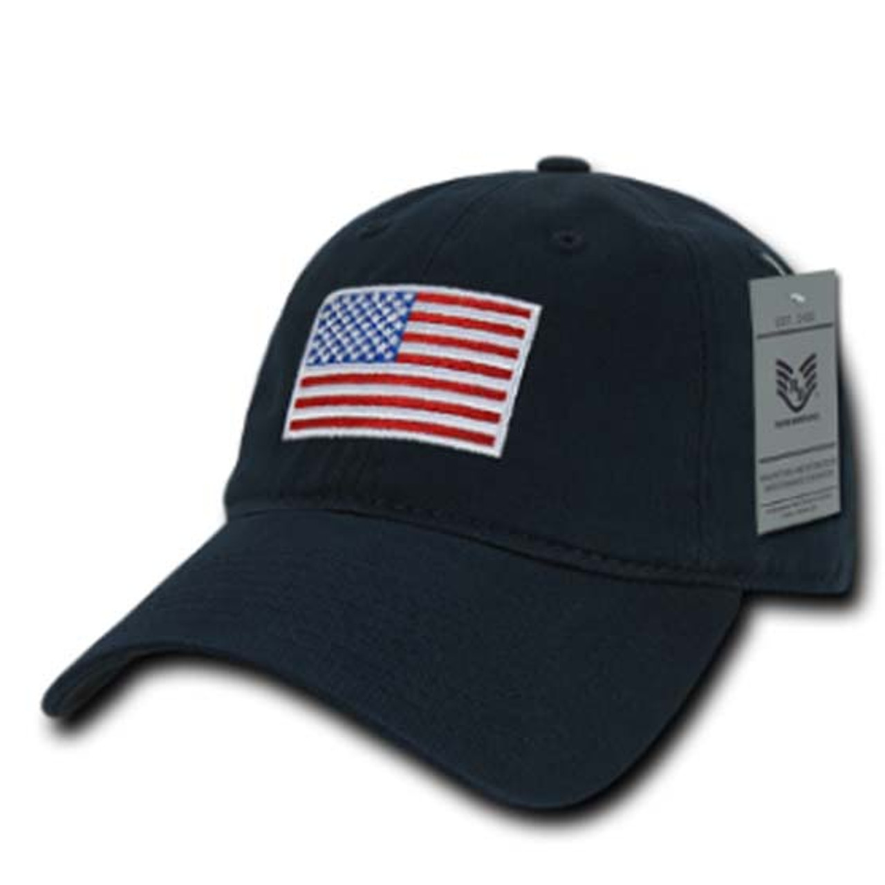 Navy Red White   Blue US American Flag United States America Polo Tonal  Baseball Hat Cap fd7d9037d0b