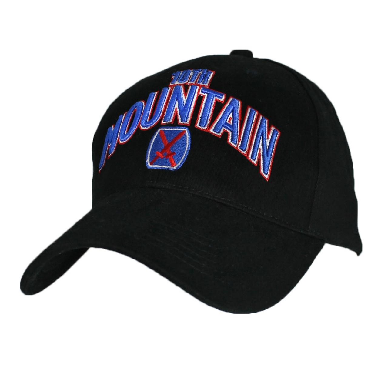 14a58f18a08 US ARMY 10th MOUNTAIN Division - U.S. Army Black Military Baseball Cap Hat