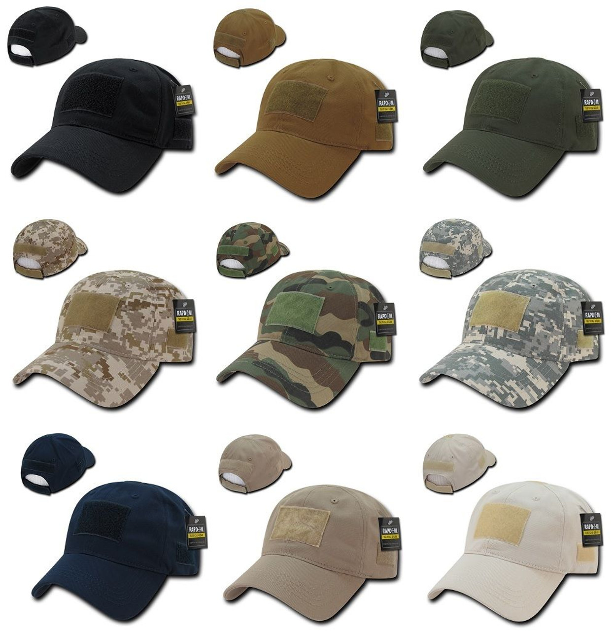 Coyote Tactical Ripstop Military Patch Operator Contractor Low Crown Cap Hat