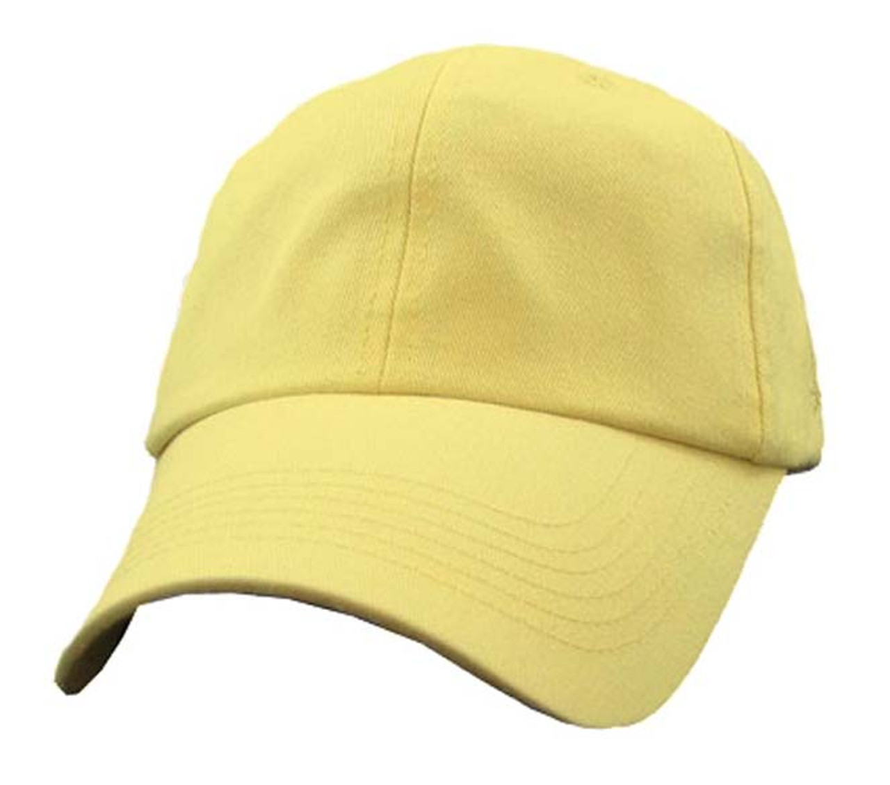 cec8f4769b63f Polo Style PASTEL FAUX YELLOW Women s Hat Baseball Cap Relaxed Fit