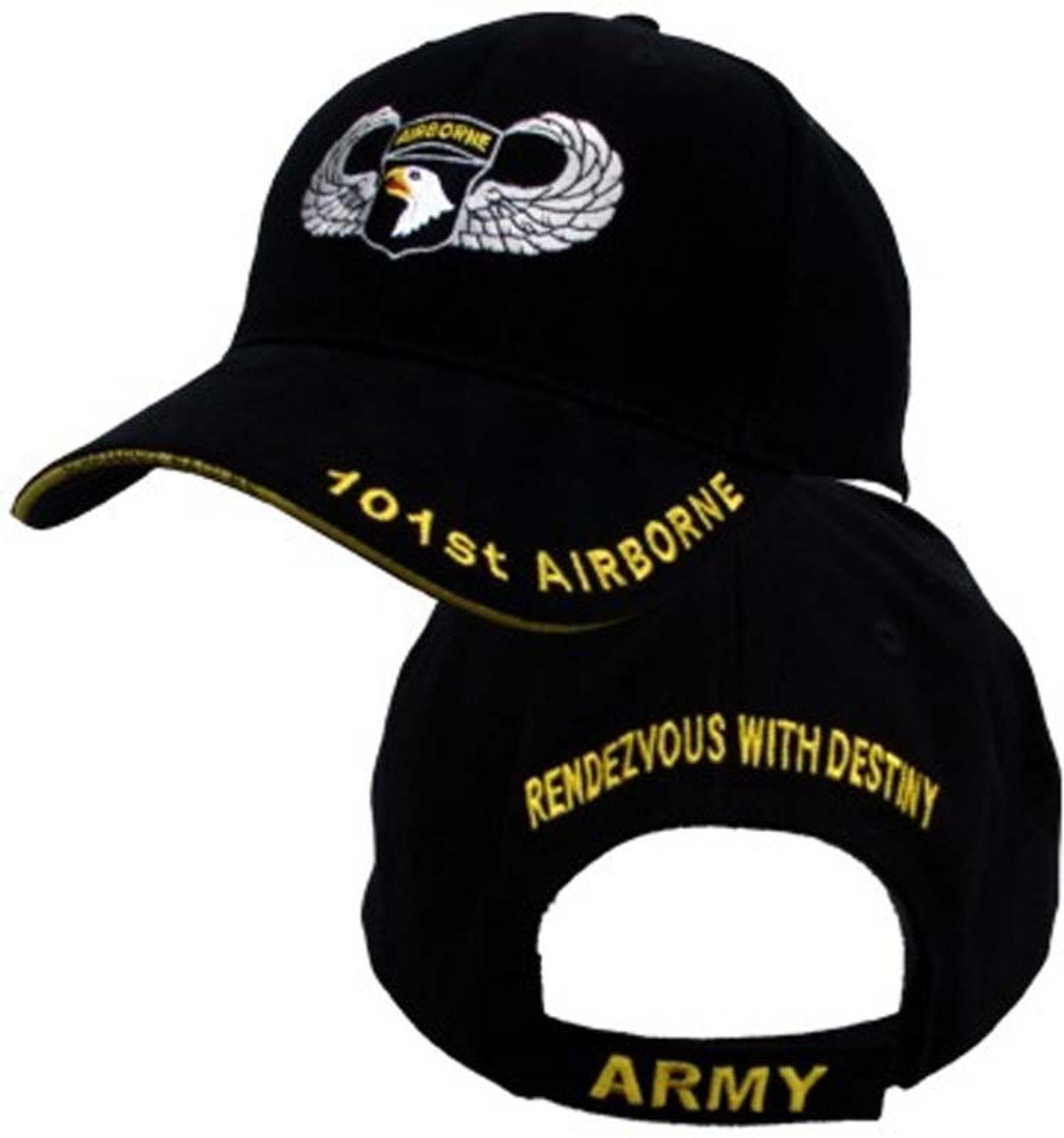 6b5dc78eed5 101st Airborne Insignia Hat - U.S. Army Officially Licensed Military Hat  Baseball Cap