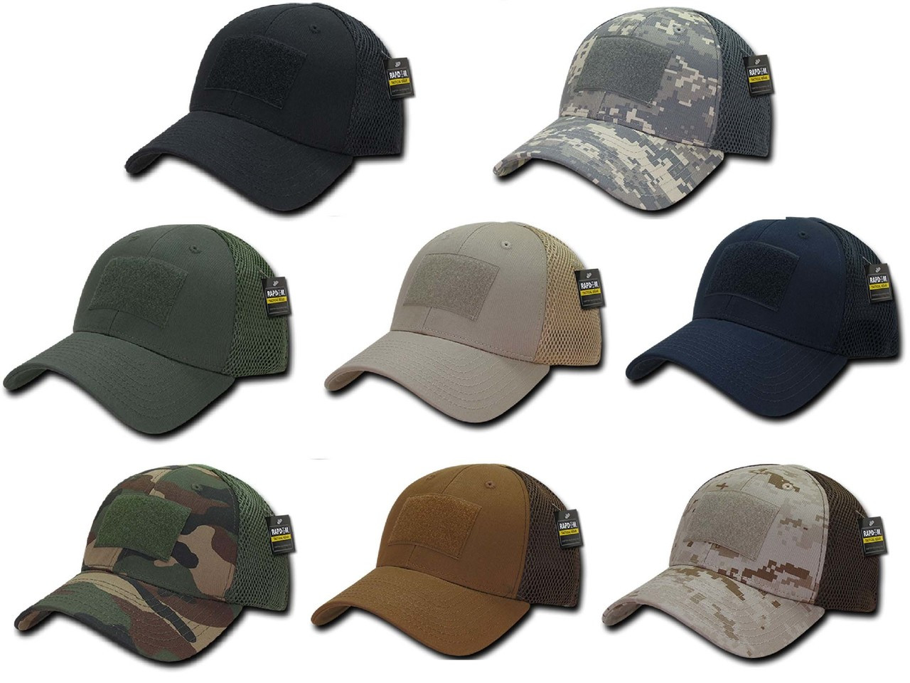 e524fd3b5b6 TBL Black USA American Flag Tactical Operator Mesh Flex Fit Baseball Hat Cap