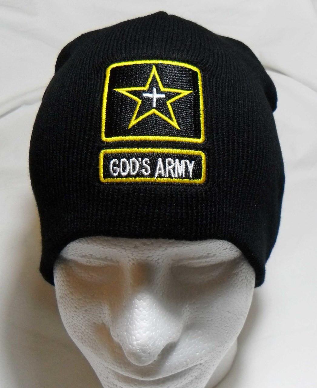 6cb3837111981 Gods Army Watch Cap Beanie Winter Ski Hat Toboggan Christian Cap