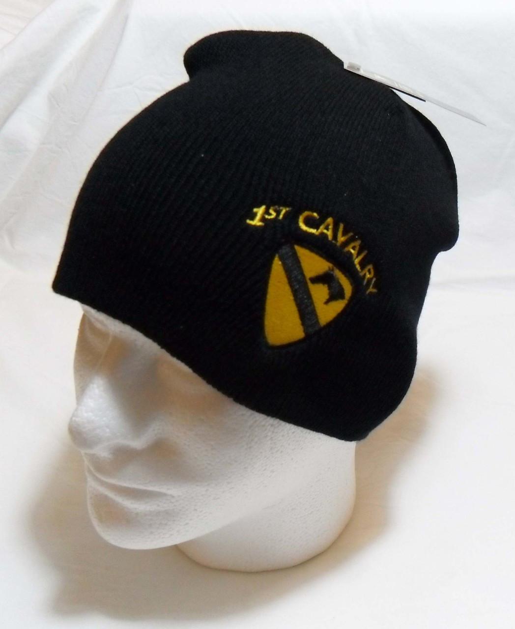 088da156785 US Army 1st Cavalry with Logo Watch Cap Beanie Winter Ski Hat Toboggan  Officially Licensed