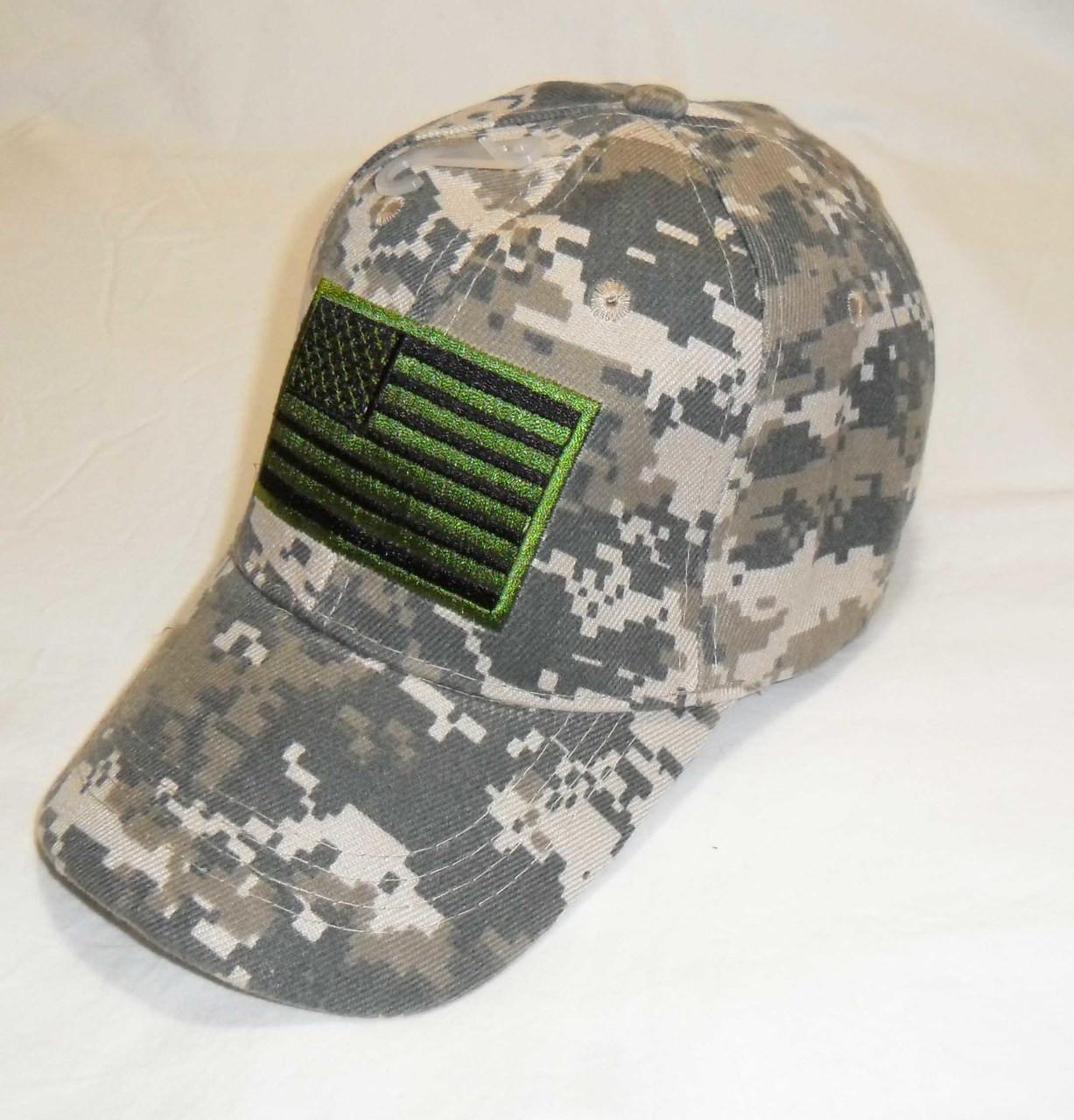 8ba03f1f9094e Digital USA American Flag Tactical Baseball Hat Cap