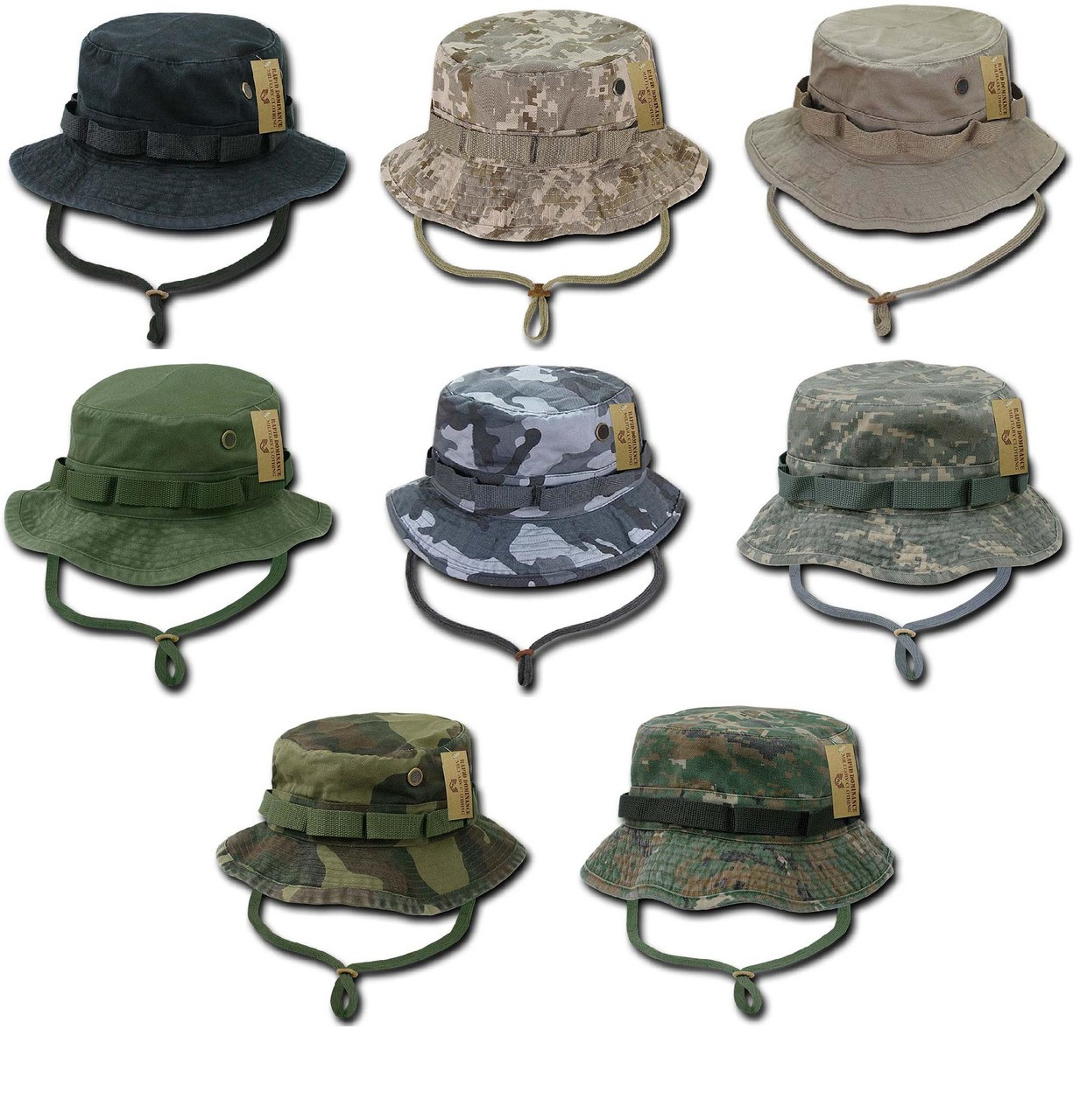 Military Style Boonie Hunting Army Fishing Outdoor Hiking Bucket Jungle Cap  Hat c92cba7ce69