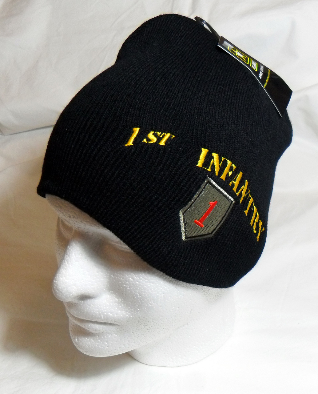 dfa2c7e37db5f0 US Army 1st Infantry with Logo Watch Cap Beanie Winter Ski Hat Toboggan  Officially Licensed