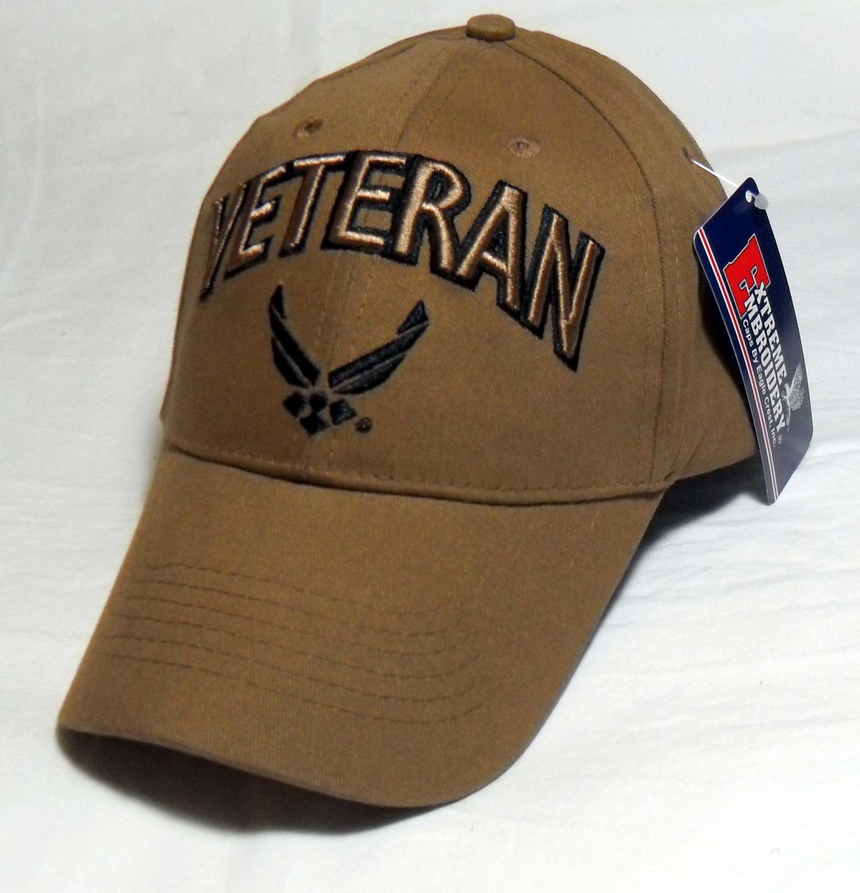 c574761634 US AIR FORCE VETERAN COYOTE BROWN - U.S.A.F. Officially Licensed Hat Cap