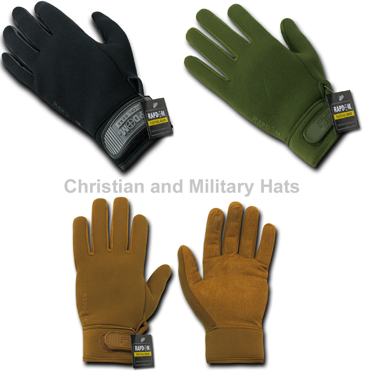 Rapid Dom Neoprene Water Repelent Gloves Tactical Patrol Army Military