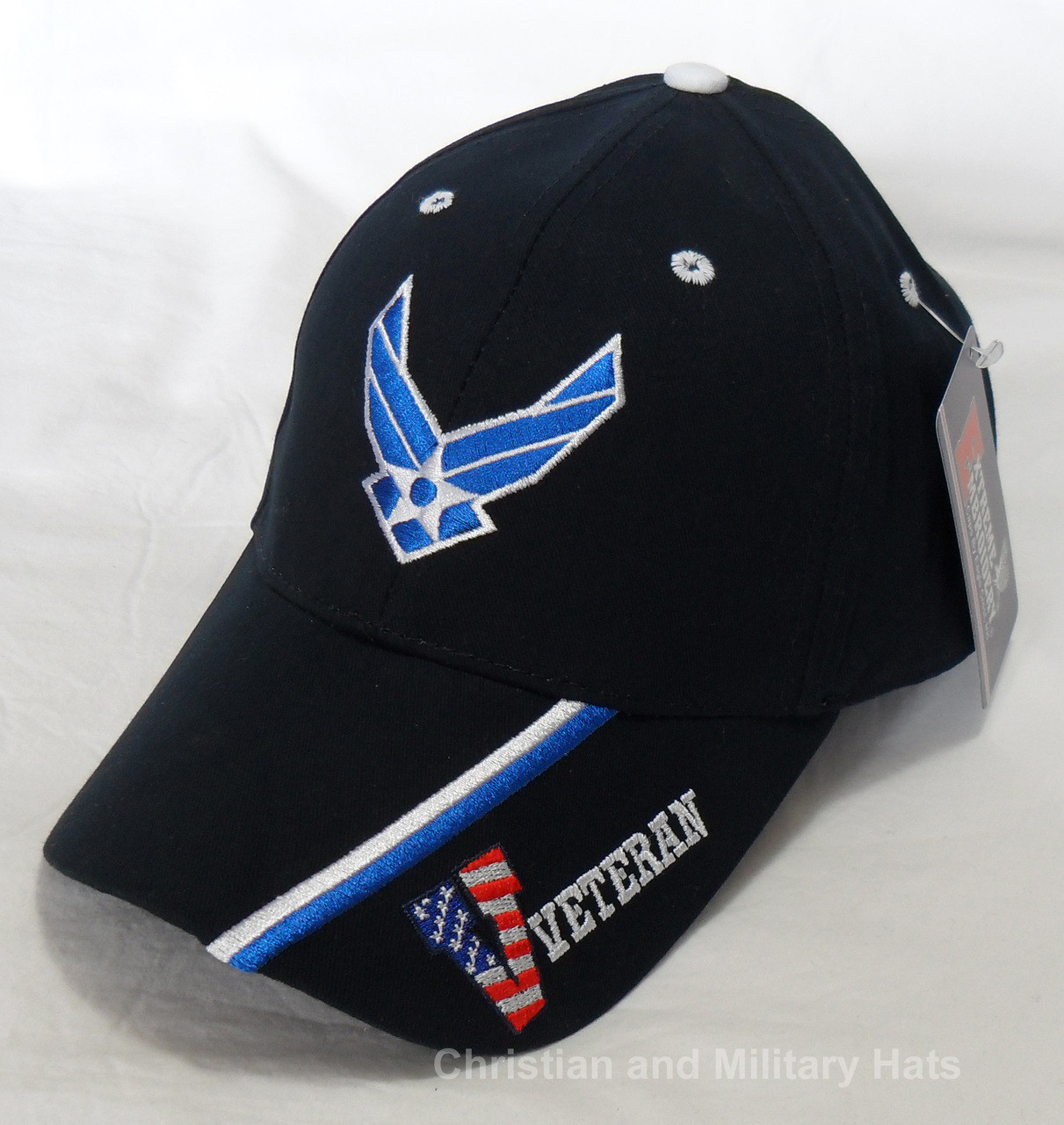 2c951bdb66 USAF US AIR FORCE VETERAN - Hap   Stripe Officially Licensed Baseball Cap  Hat