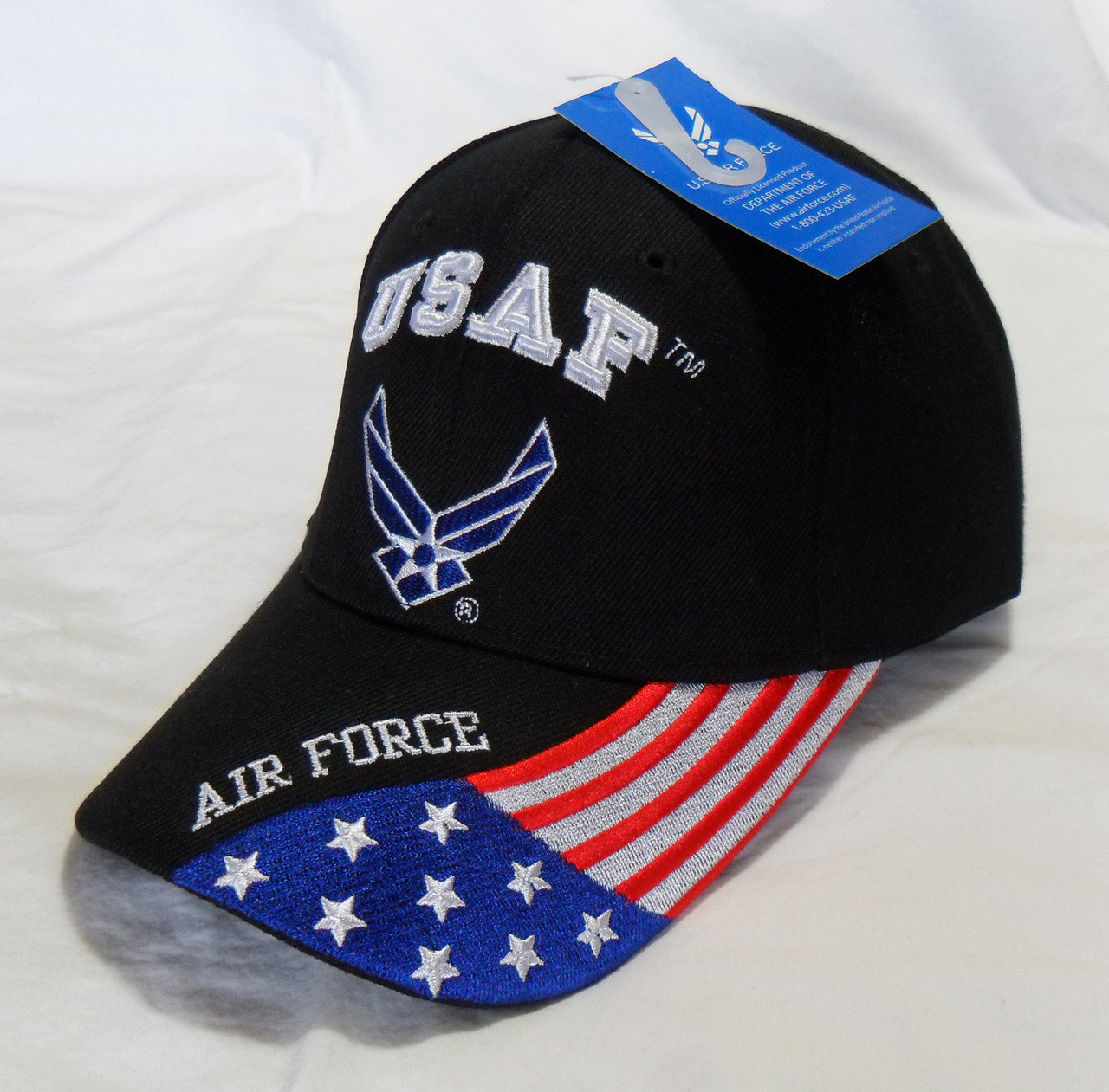 force embroidered baseball officially licensed seal flag cap hat current