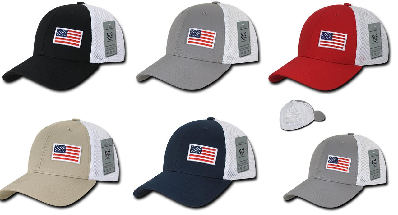 USA America United States Flag Aero Foam Flex Mesh Baseball Cap Hats