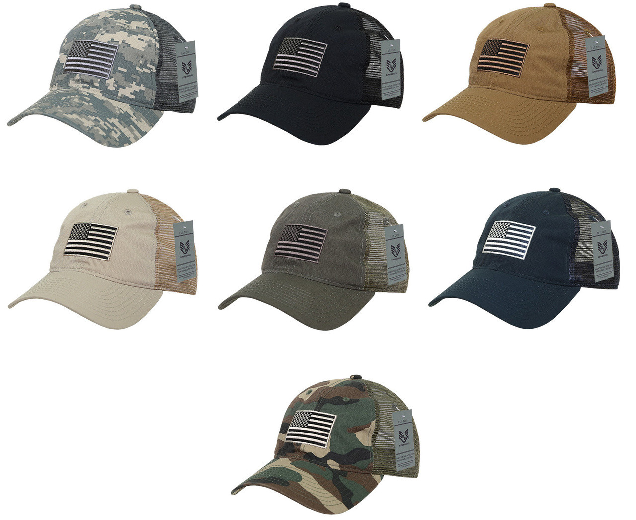 70d297f2ec0 Ripstop Trucker Cap United States USA Flag Baseball Cap Hats