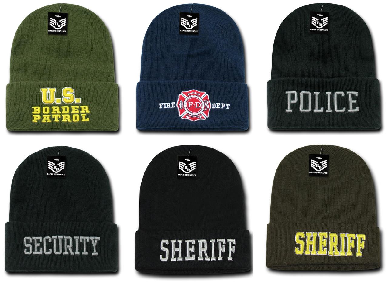 3d9e50a0902 Public Service Law Enforcement Beanie Toboggan Ski Cap