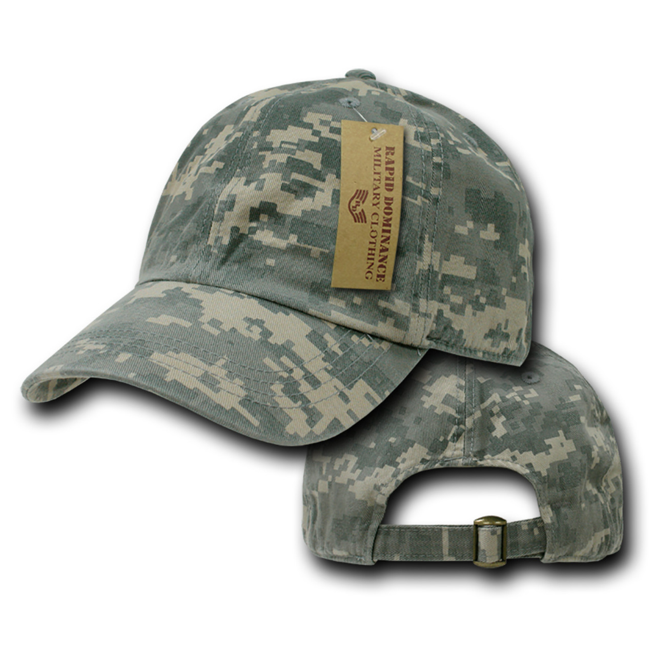 Universal Digital Camo Army Washed Cotton Polo Baseball Ball Cap Hat fdd51e1dd57