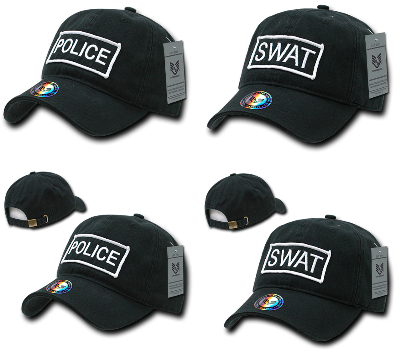 1c42bc8424b Law Enforcement Raid Cap Police or Swat Hat Baseball Cap