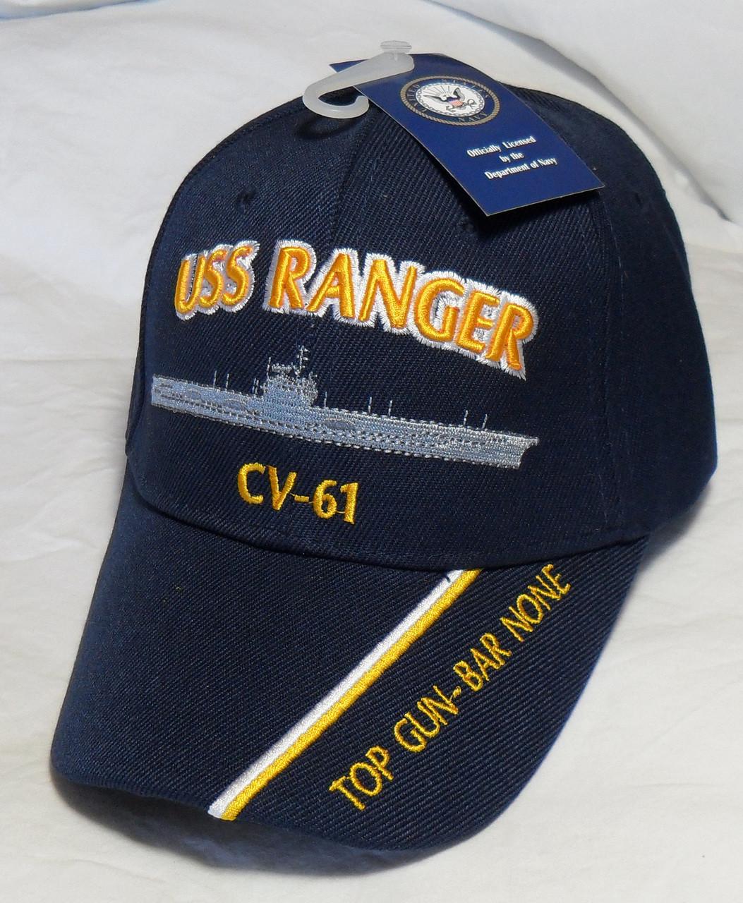 USS Ranger CV-61  Hat Lapel PIN  1 inch metal Pin    US Navy Aircraft carrier