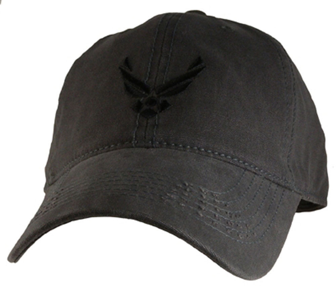 e84b1f76e4b U.S.A.F. US AIR FORCE Relaxed Fit CHARCOAL OFFICIALLY LICENSED Military Hat  baseball cap