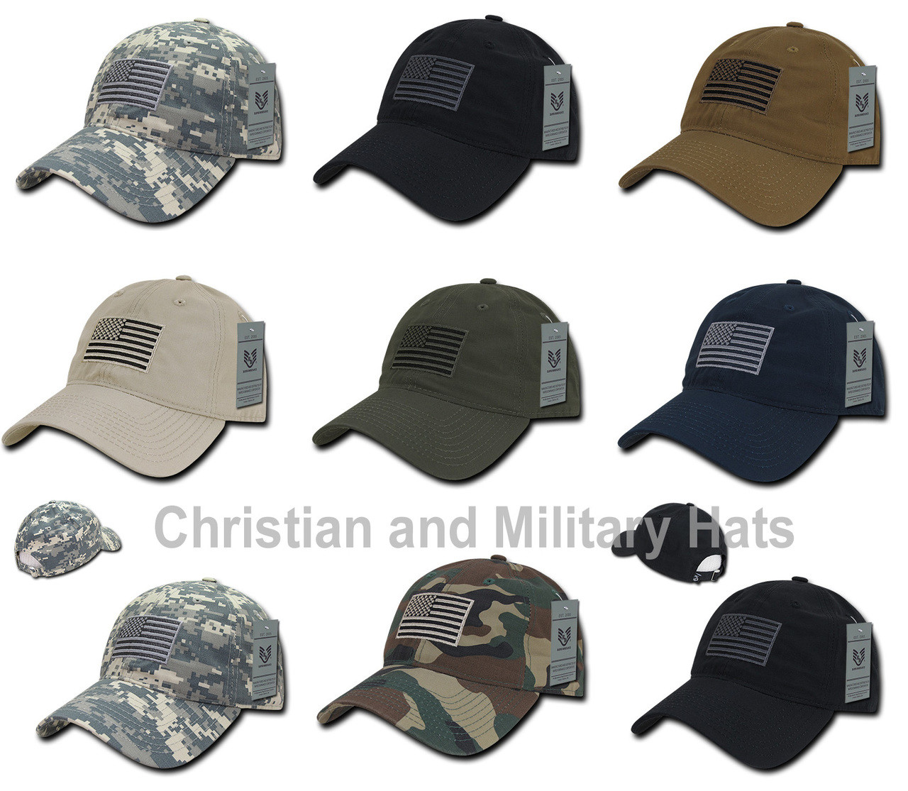 82c3ff97eb497 Relaxed Fit Ripstop Cap United States USA FLAG Baseball Cap Hats