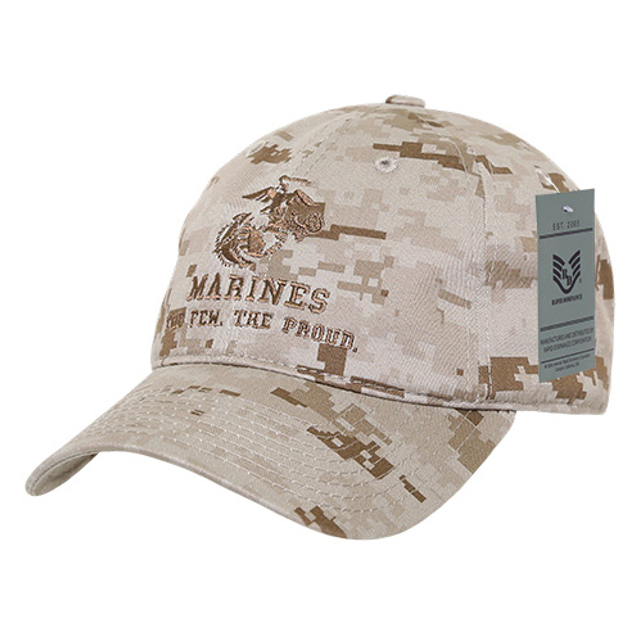 eae1b1822 USMC US Marine Corp The Few The Proud DDG Relaxed Fit Military Hat Baseball  Cap Hat