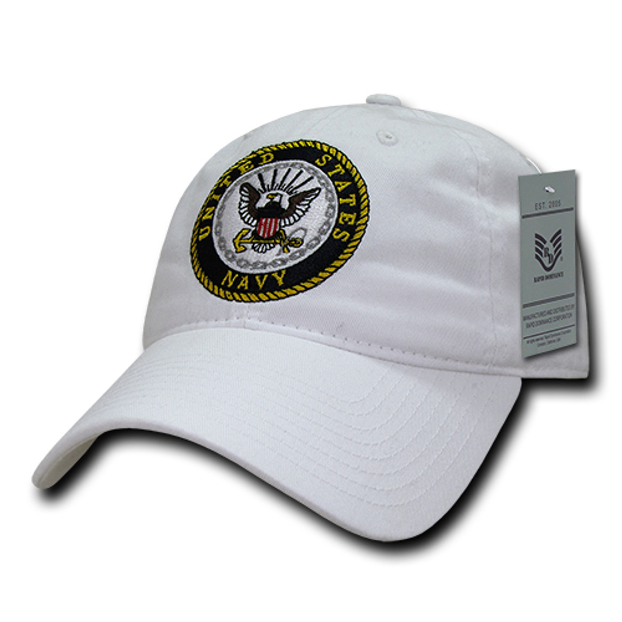 White United States US Navy USA Military Adjustable Baseball Cap Caps Hat Hats
