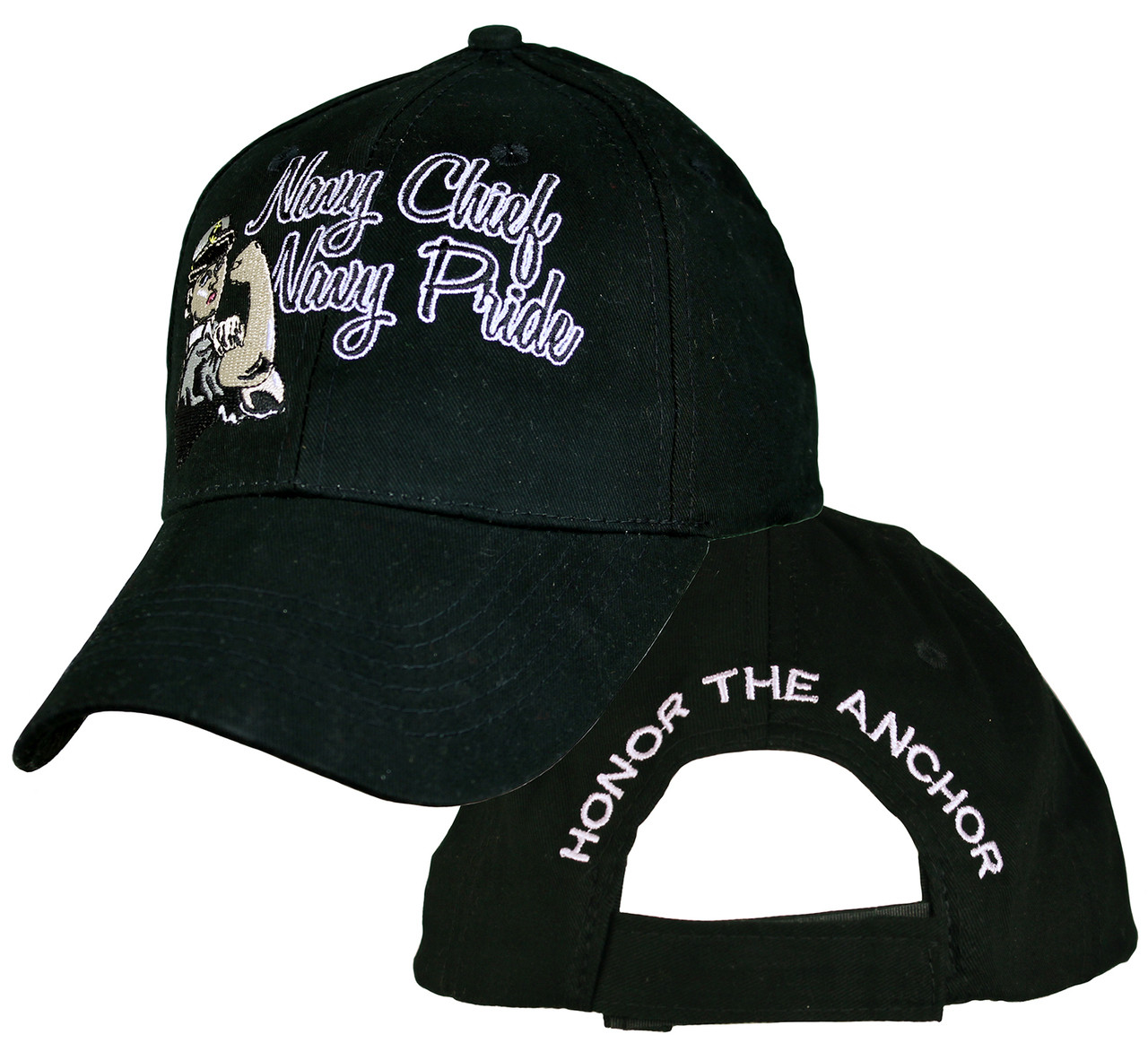 7e117bb71d7 Ladies US NAVY NAVY Chief Black OFFICIALLY LICENSED Military Hat baseball  cap