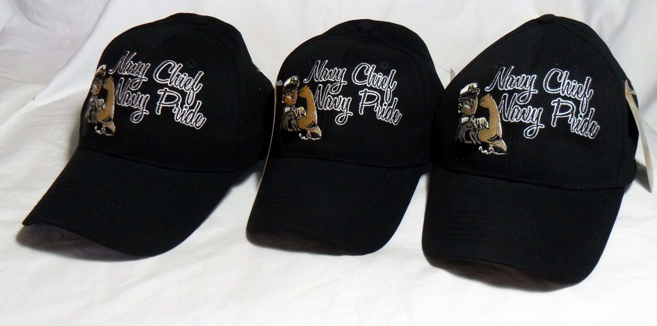 00a4e30fae540 ... australia ladies 3 pack us navy navy chief black officially licensed  military hat baseball cap 9a75c