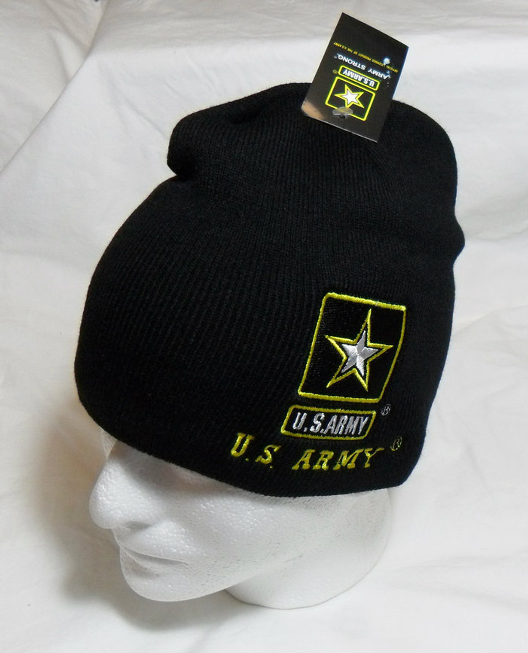 78c02fa30b0093 US ARMY with Star Watch Cap Beanie Winter Ski Hat Toboggan Officially  Licensed