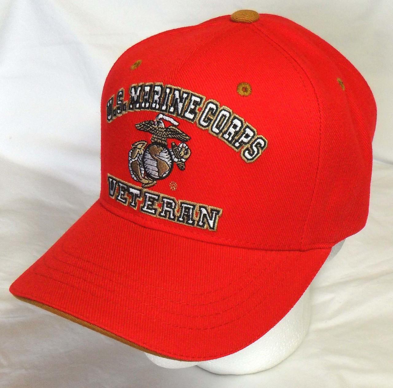 United States Marines U.S.M.C.VETERAN Marine With EGA Baseball Cap Hat 878d54d7cba