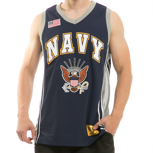 US NAVY United States Navy with Insignia Military Basketball Jersey