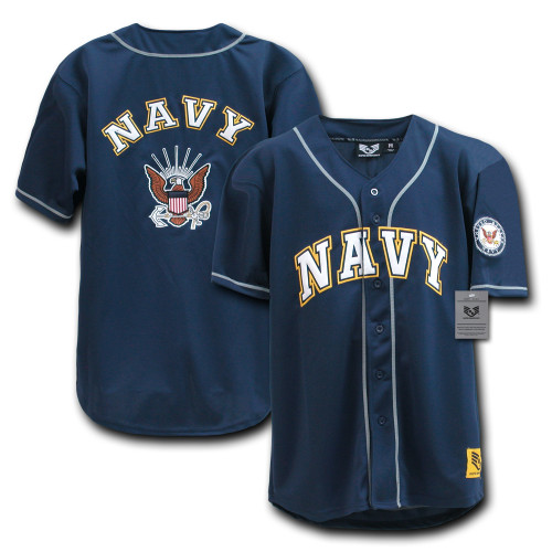 US NAVY United States Navy with Insignia Military Baseball Jersey