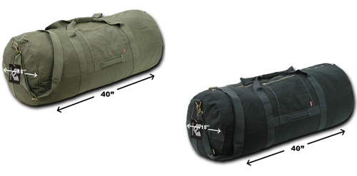 Side Zip Duffle Bags Military Style Heavyduty Canvas Bag Bags Shoulder Strap