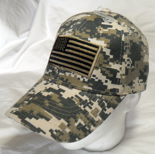 ACU Digital USA American Flag Tactical Baseball Hat Cap