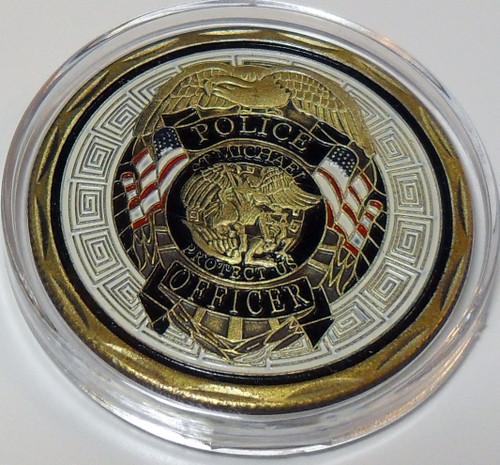 Saint Michael Patron Saint Of Police Officers Challenge coin