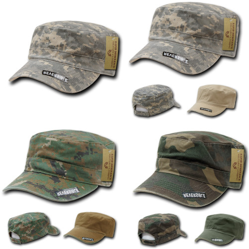 Reversible FlatTop Patrol Cap Adjustable Cap