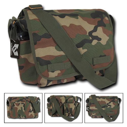 Classic Camo Military Messenger Bag Field Canvas Shoulder  Bag Bags