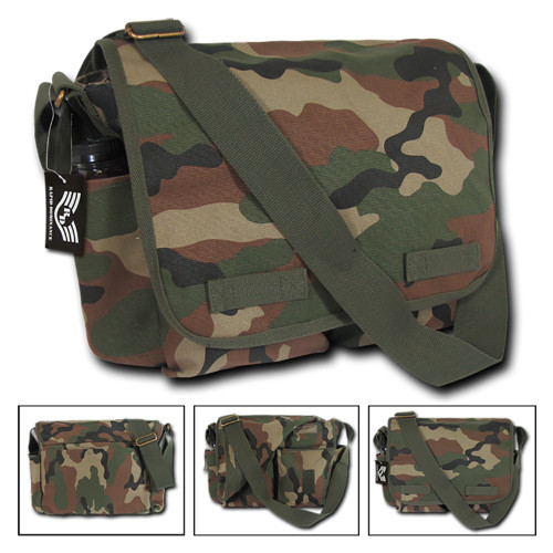Classic Camo Military Messenger Bag Field Canvas Shoulder  Bag Bags