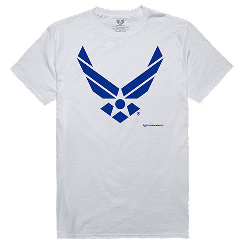 USAF United States Air Force Tee With Blue Wings GRAPHIC TEE T-Shirt