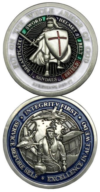 Airman Whole Armor of God Challenge Coin Ephesians 6-13-17