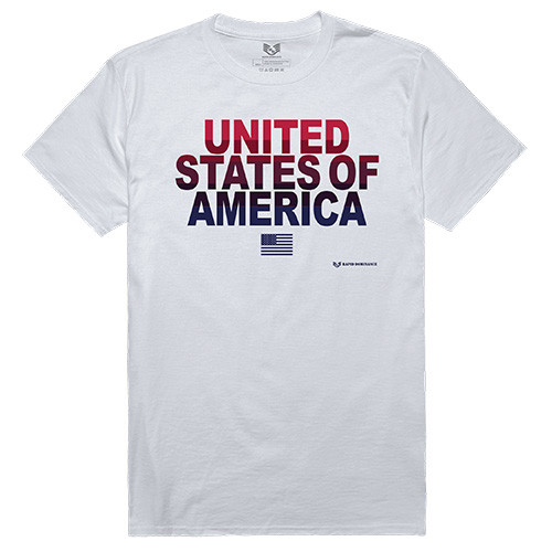USA United States Of America Bold Lettering with small flag Tee GRAPHIC TEE T-Shirt