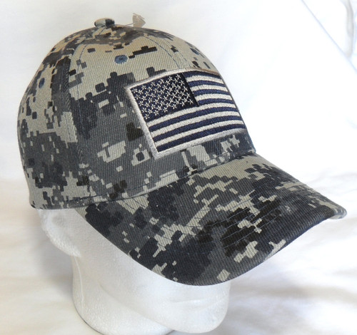 NTG Navy Digital Camo USA American Flag Tactical Baseball Hat Cap