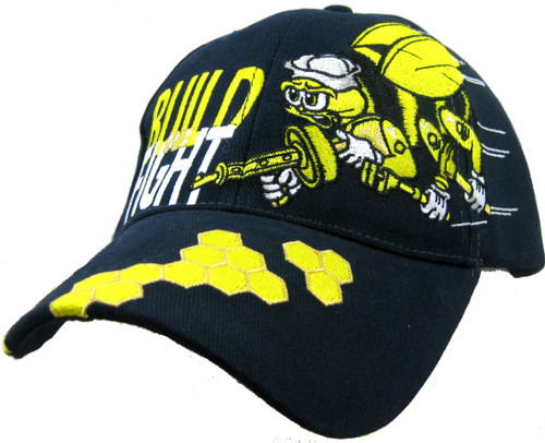 U.S. Navy SeaBees Blue We Build We Fight- Officially Licensed Baseball Cap Hat